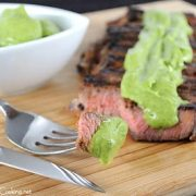 Grilled Steak with Avocado Sauce