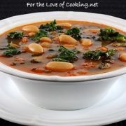 White Bean Soup with Chorizo and Kale