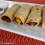 Shredded Beef and Sweet Potato Baked Taquitos