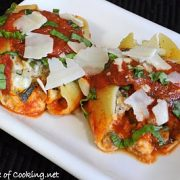 Mushroom and Turkey Italian Sausage Stuffed Shells