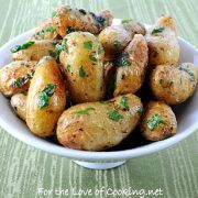 Roasted Baby Potatoes with Parsley and Butter