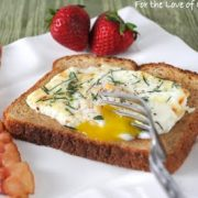 Herb Baked Eggs over Toast