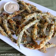 Panko Crusted Green Beans with a Soy Garlic Aioli