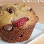 Banana, Strawberry, and Chocolate Chip Muffins