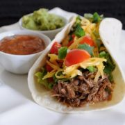 Shredded Beef Soft Tacos