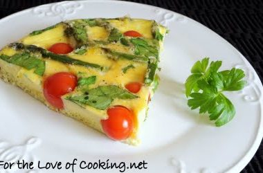 Asparagus, Tomato, and Spinach Frittata
