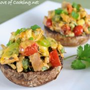 Southwestern Stuffed Portobello Mushrooms