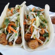 Pork Tenderloin Tacos with Tangy Slaw