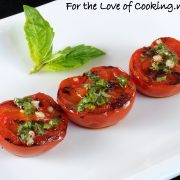 Grilled Tomatoes with Basil, Garlic, and Lemon