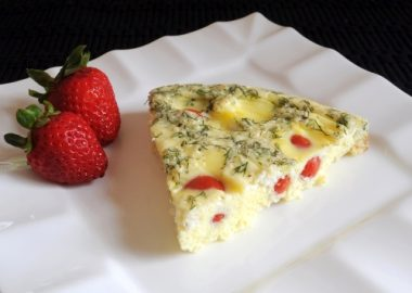 Tomato, Feta, and Fresh Dill Frittata