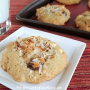 Coconut, White Chocolate, and Chocolate Chunk Cookies