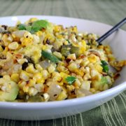 Grilled Corn, Poblano, and Onion Salad with Lime Vinaigrette