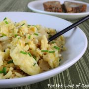 Caramelized Onion Scrambled Eggs