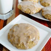 Pumpkin Cookies with Cinnamon Icing