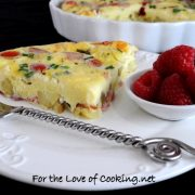 Brie, Ham, Potato, Chive, and Tomato Frittata