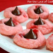 Cherry Chocolate Kiss Cookies