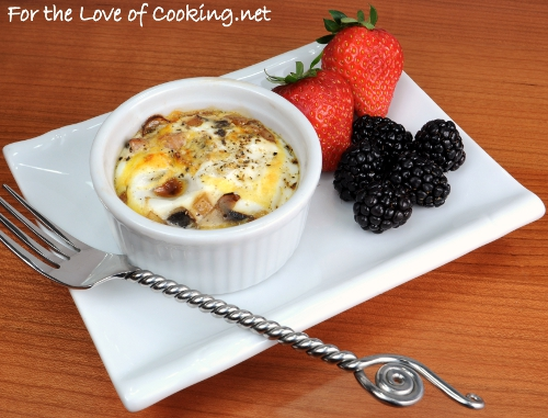 baked eggs with ham cheddar and chives recipe dishmaps baked eggs ...