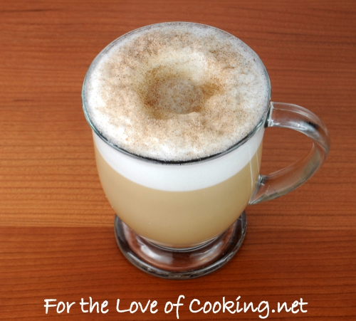 Vanilla Latte with Cinnamon and Sugar Crust