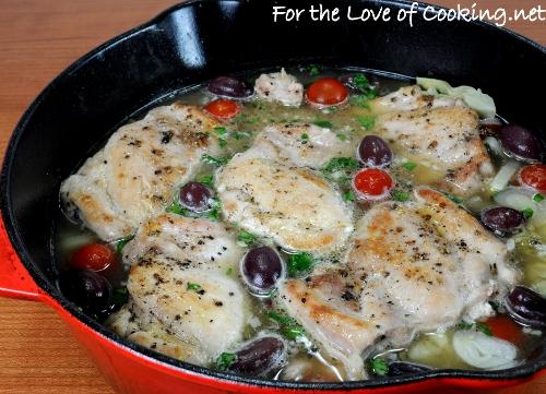 Mediterranean Chicken and Orzo Bake