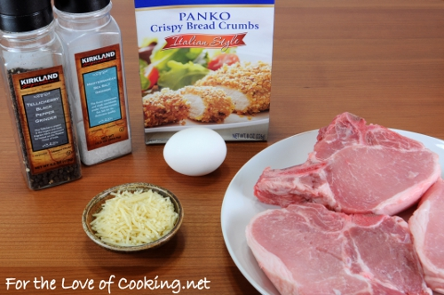 Italian Panko and Parmesan Crusted Pork Chops