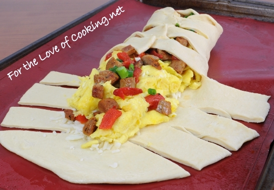 Italian Sausage And Roasted Red Pepper Omelette Topped ...