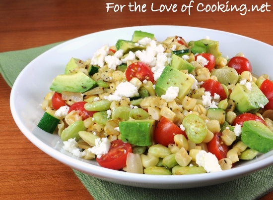 Succotash with Avocado, Tomato, and Cotija Cheese