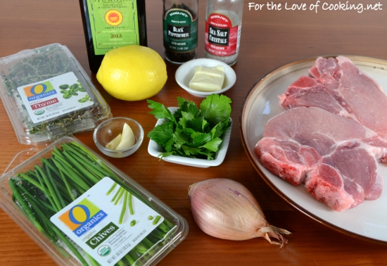 Herb Pork Chops with Caramelized Shallots | For the Love of Cooking