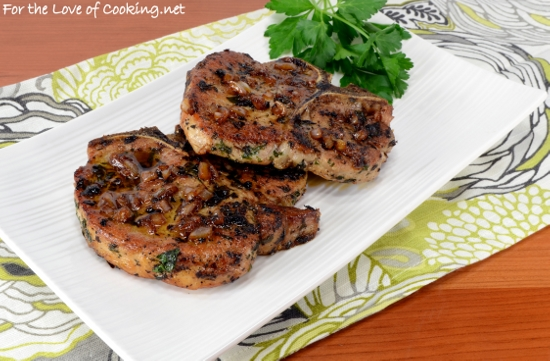 Herb Pork Chops With Caramelized Shallots Recipes — Dishmaps