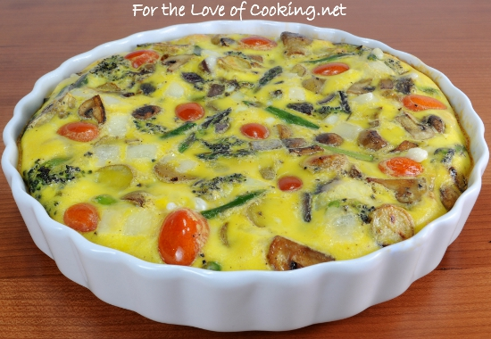 Roasted Vegetable and Swiss Cheese Baked Frittata | For the Love of ...