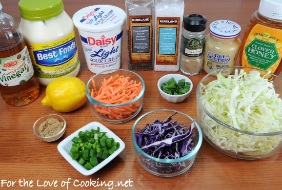Light and Tangy Cole Slaw | For the Love of Cooking