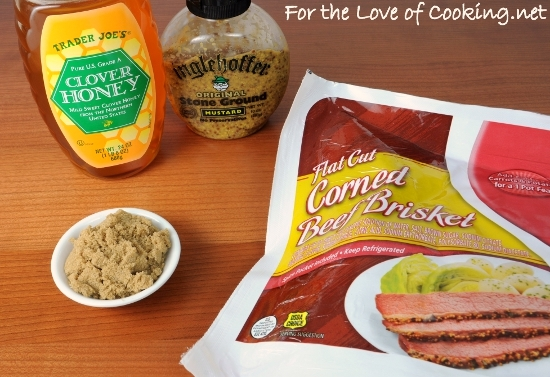 Baked Honey-Mustard Corned Beef | For the Love of Cooking