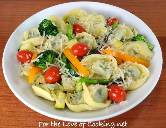Spinach and Cheese Tortellini Primavera