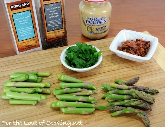 Sautéed Asparagus with Bacon and Dijon