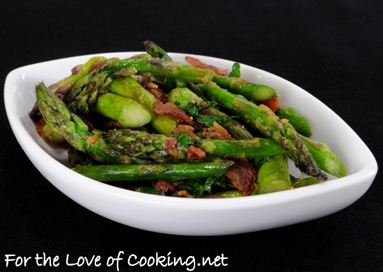 Sautéed Asparagus with Bacon and Dijon