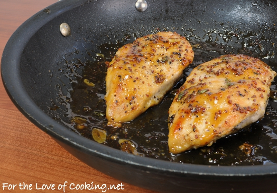 Maple-Mustard Glazed Chicken | For the Love of Cooking