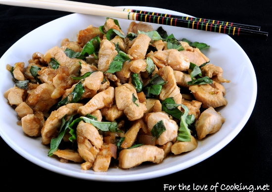 Spicy+basil+chicken