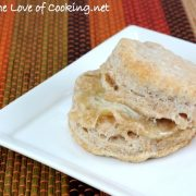 Flaky Whole Wheat Buttermilk Biscuits