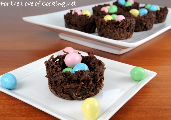Coconut and Chocolate Nests