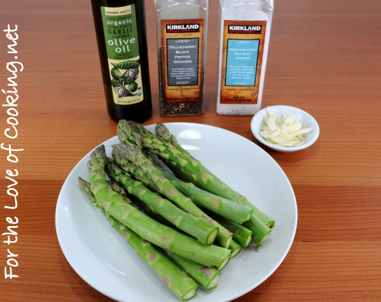 Garlicky Asparagus with a Splash of Lemon | For the Love ...