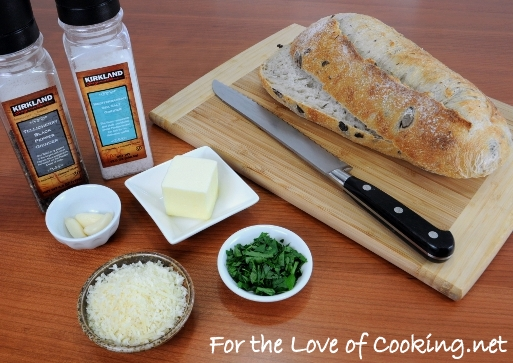 Kalamata Olive Garlic Bread