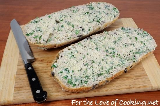 Kalamata Olive Garlic Bread