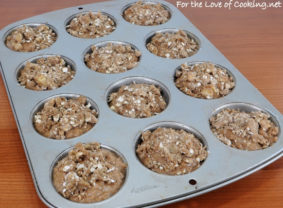 Spiced Apple Cider Muffins with Streusel Topping | For the ...