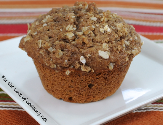 Spiced Apple Cider Muffins with Streusel Topping | For the Love of ...