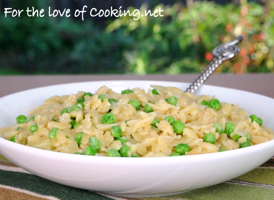 Orzo with Peas and Parmesan