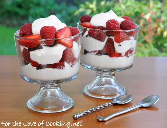 Berry Parfait with Homemade Vanilla Bean Whipped Cream and ...