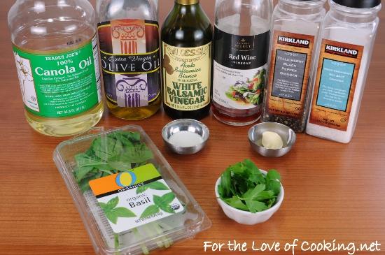 Fresh Basil Vinaigrette | For the Love of Cooking