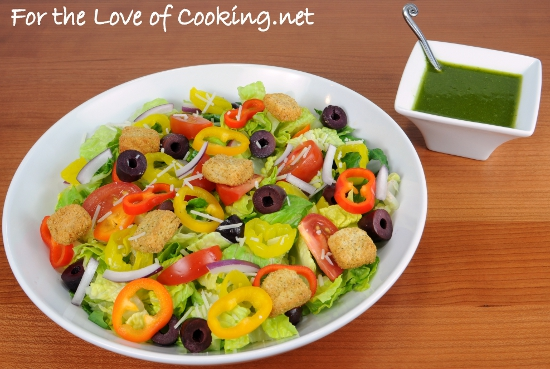 Italian Salad with Fresh Basil Vinaigrette