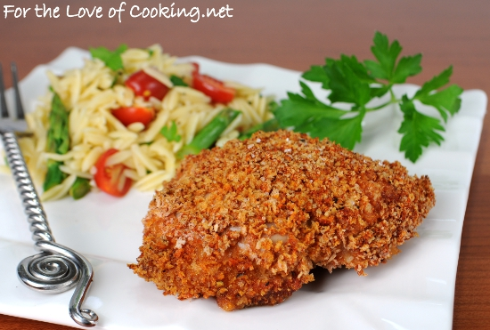 Paprika Panko Crusted Chicken Thighs | For the Love of Cooking