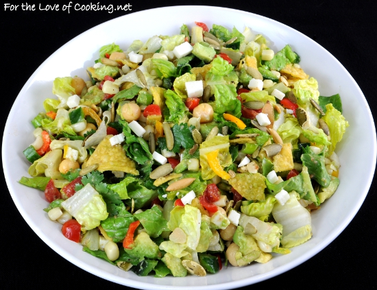 Mexican Chopped Salad with Cumin Vinaigrette | For the Love of Cooking