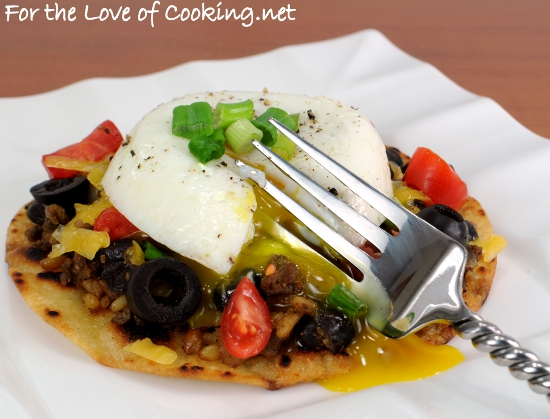 Breakfast Tostada With Guacamole, Black Beans, And Poached ...
